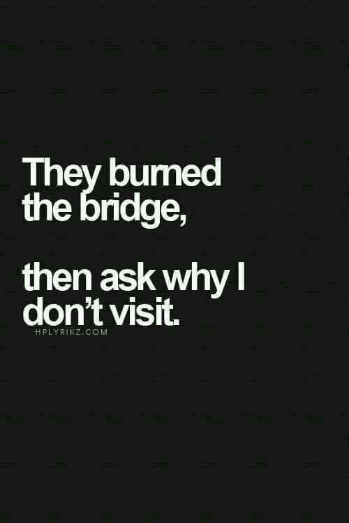 They burned the bridge, then ask why I don't visit.   I've cancelled my subscription to that level of crazy.