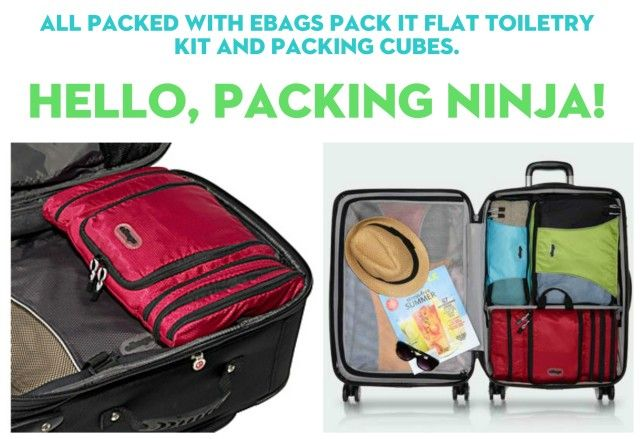 Pack Like a Professional with eBags Packing Cubes {Giveaway}