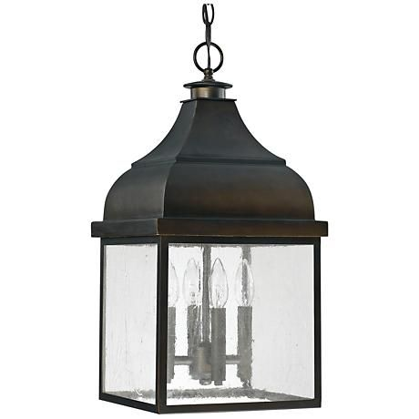 "Capital Westridge 11""W Old Bronze Outdoor Hanging Light"