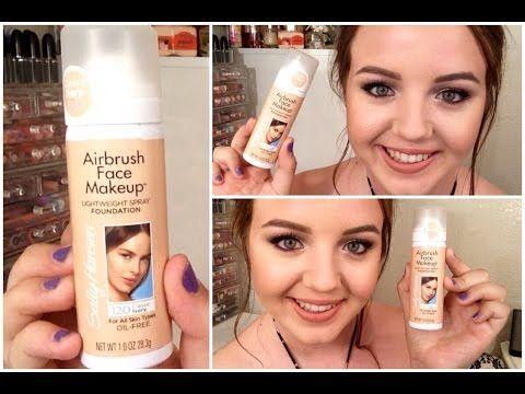 NEW Sally Hansen Airbrush Foundation ♡ Review & Demo - YouTube