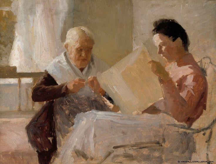 Annie Edelfelt with Fredrika Snygg (Albert Edelfelt - 1888)