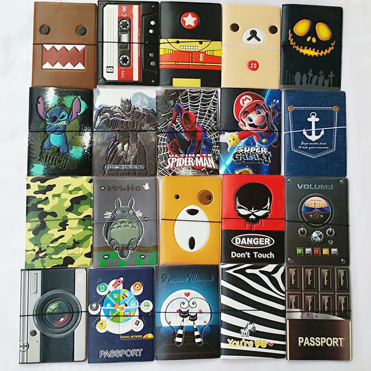 New boys like cool cartoon passport holders, men travel passport cover, pvc leather 3D Design 22 different styles to choose [Affiliate]