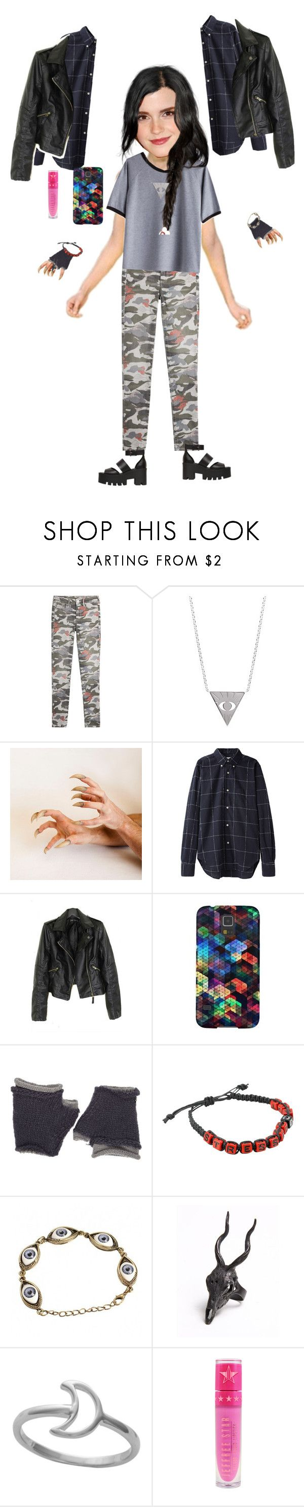 """""""Sammi McCall's basic fight training look (for becoming a hunter)"""" by samtiritilli on Polyvore featuring True Religion, Emma Watson, Venom, Our Legacy, Wooden Ships, Hot Topic, LAS Jewelry, Midsummer Star, Jeffree Star and Windsor Smith"""
