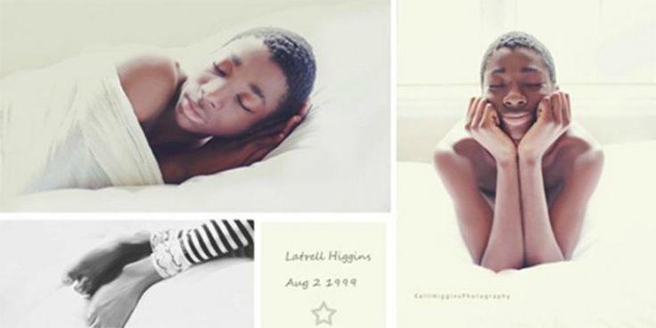 Fotógrafa faz lindas fotos de recém-nascido com seu filho adotivo de 13 anos