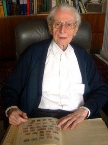 Karl Heinz Schwab, the 102 year old Philatelist: http://d-b-z.de/web/2013/04/30/aktiver-briefmarkensammler-mit-102/