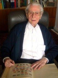 Karl Heinz Schwab, the 102 year old Philatelist: http://d-b-z.de/web/2013/04/30/aktiver-briefmarkensammler-mit-102/