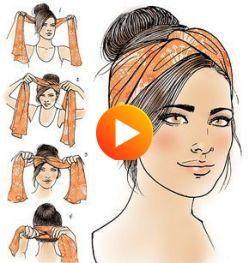 2019年のために あなたの髪としてaカチューシャヘアスタイル32 アイデアでaバンダナを着用する方法 In 2020 Headband Hairstyles Haar Hair Styles