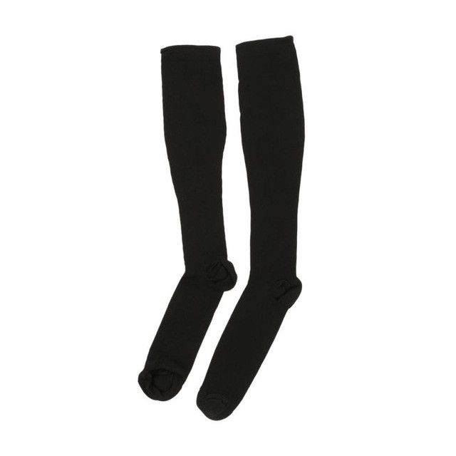 Thigh-High Compression Stockings Pressure Nylon Varicose Vein Stocking Travel Leg Relief Pain Support
