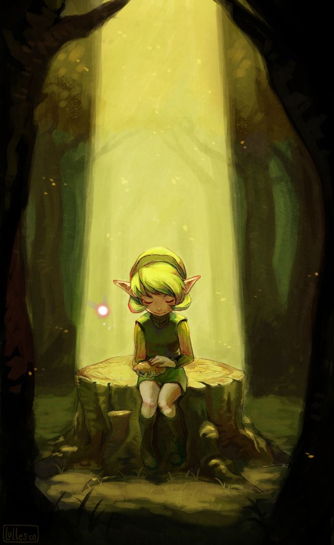 I Waited, Saria, Legend of Zelda, fan art <<I don't understand but it's just...the feelings
