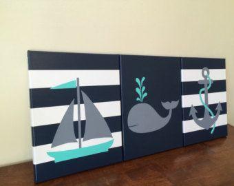 pépinière nautique mur décoration bébé par JessieAnnCreations