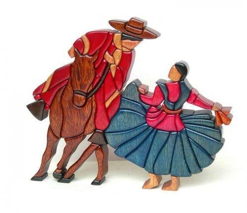 Интарсия. Фольклор Перу. (30 фото)