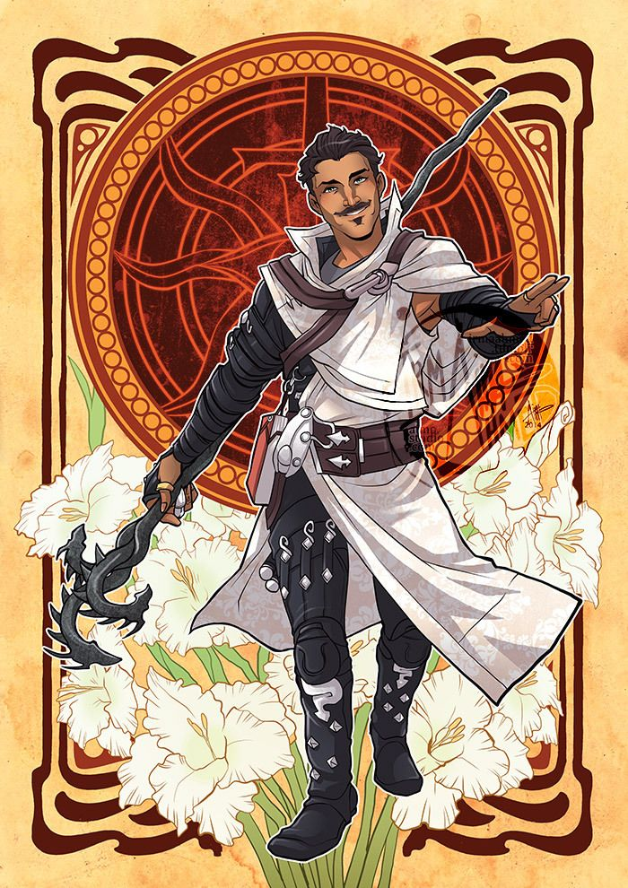 "Dragon Age: Inquisition - Decorative Heroes: Dorian Pavus Size: A3 / 11"" x 16"" Medium: Manga Studio, Photoshop, Paint Tool SAI, Layer Paint, Galaxy Note 3. — Prints available at my Artfire store: A4..."