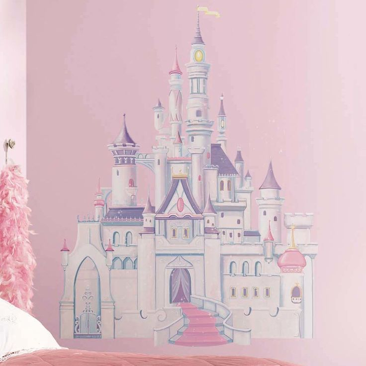 Found it at Wayfair - Licensed Designs Disney Princess Castle Peel and Stick Giant Wall Decal