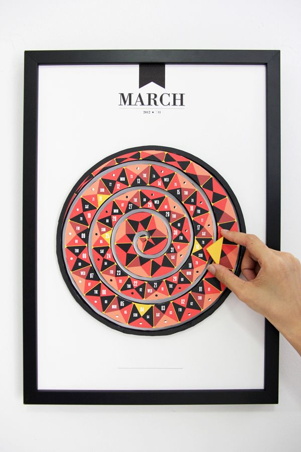 These 3-D calendars made from paper are very cool! There's a cool gear one that has the day of the week in one little gear, and the date on the other. Check it out! Click on the moving pics to see more pictures and details of each month!