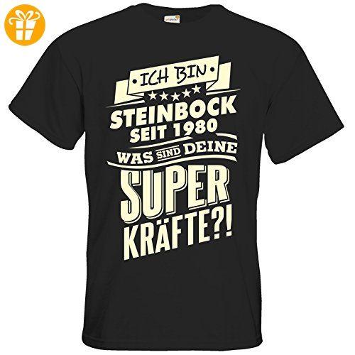 getshirts - RAHMENLOS® Geschenke - T-Shirt - Superkräfte Sternzeichen Steinbock 1980 - black L - T-Shirts mit Spruch   Lustige und coole T-Shirts   Funny T-Shirts (*Partner-Link)