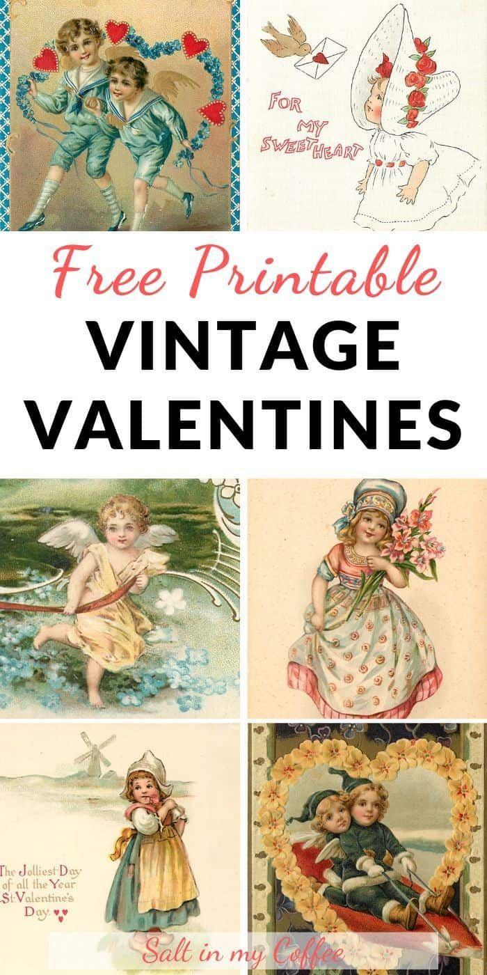 Free Printable Vintage Valentines Valentines Printables Free Printable Valentines Cards Vintage Valentine Crafts