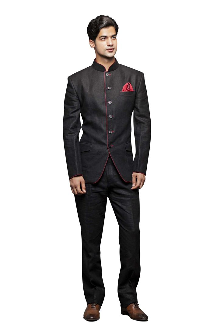 Black band gala Suit - Zarilane