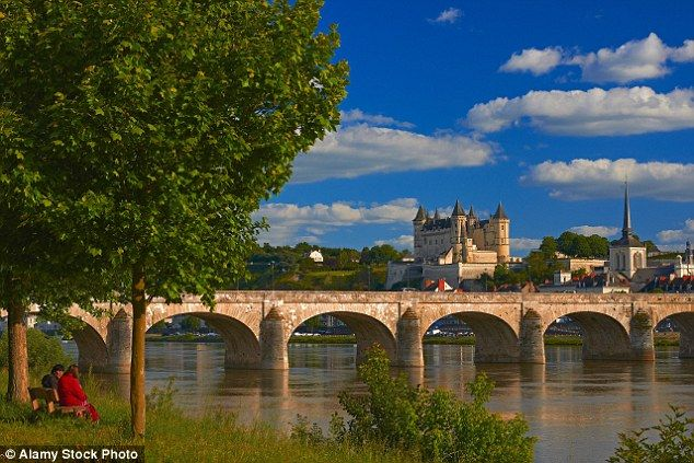 Grandeur: The Château de Saumur (pictured to the right) in Pays de la Loire, France, is home to Cointreau