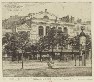 Boulevart du Temple : V(ue) d(u) Théâtre de la Gaieté
