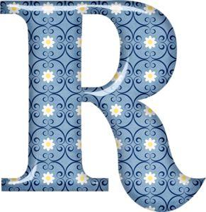 Blue 6 (con imágenes) | Moldes de letras