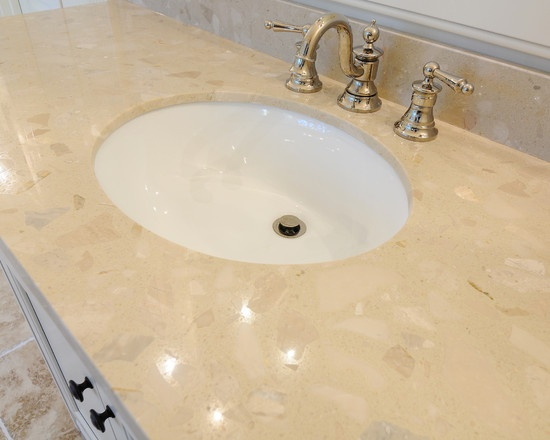 Piedrafina Perla recycled marble top at A Chad Kee House West Paces