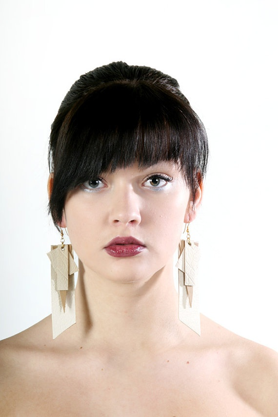 Silent Shuffle earrings from recycled leather by PiiaMyllerDesign, €15.00