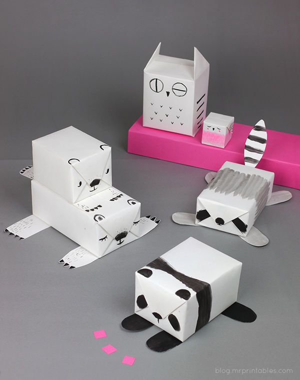 This Mr. Printables DIY Turns Plain Paper into Fun Animal Gift Wrap #DIY #paperproducts trendhunter.com