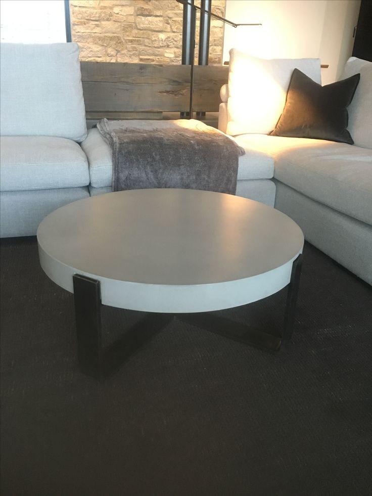 Concrete and steel table by Keith Crewe Concrete Design