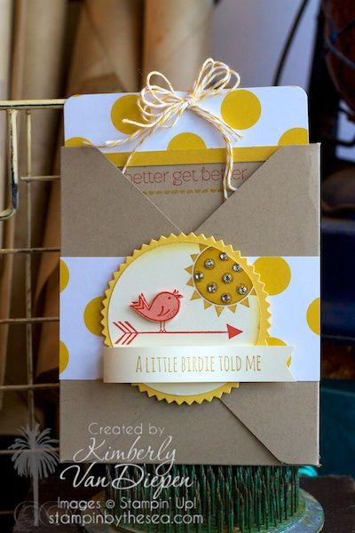 Fun Envelope Card  Envelope Pouch Card | Stampin' Up! :: StampinByTheSea.com