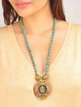 Ganesha Turquoise-Coral Necklace