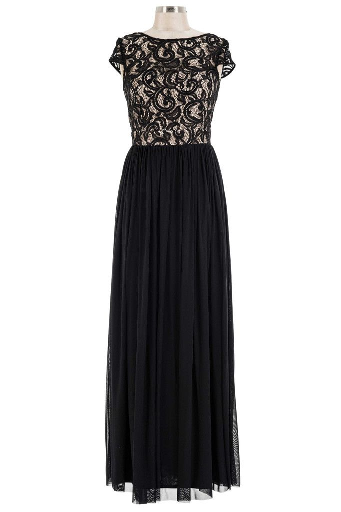 Got A Crush On You Dress - Black & Nude