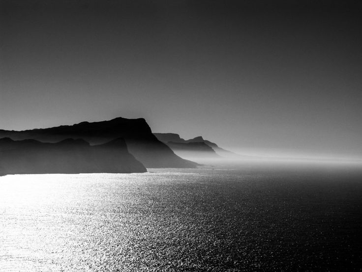 From the Cape Of Good Hope looking east (Indian Ocean) -- near Capetown, South Africa. Photography by Preston Reed.