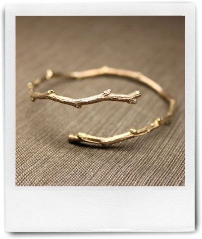 pretty twig-like bracelet. I like the nature inspired style