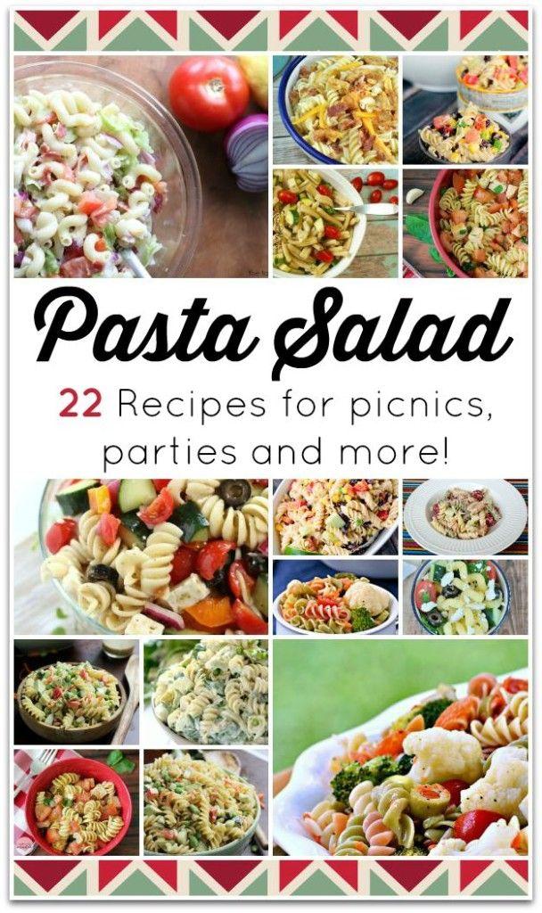 22 pasta salad recipes!