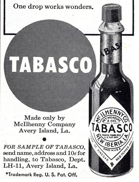 Tobasco ad 1951 - (via File Photo) on Flickr | Photos,People,History ...: http://www.pinterest.com/pin/184577284700770455/