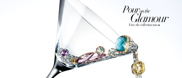 Tacori Ads. Simplistic style. Pour on the Glamour