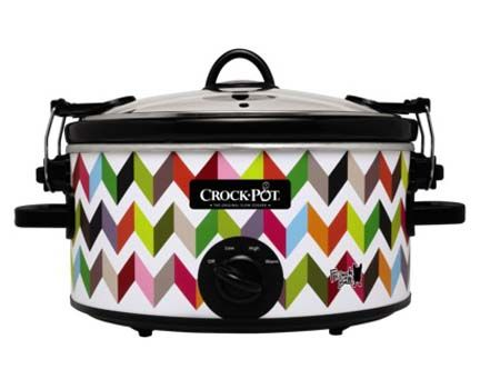 target chevron colorful multicolor crock pot slow cooker contemporary modern kitchen small appliance french bull