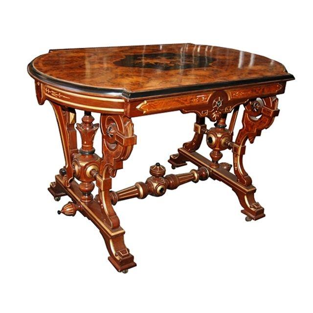 Antique 19th C. Victorian inlaid table.