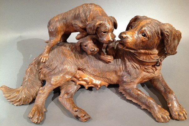Images about carved wooden dogs on pinterest