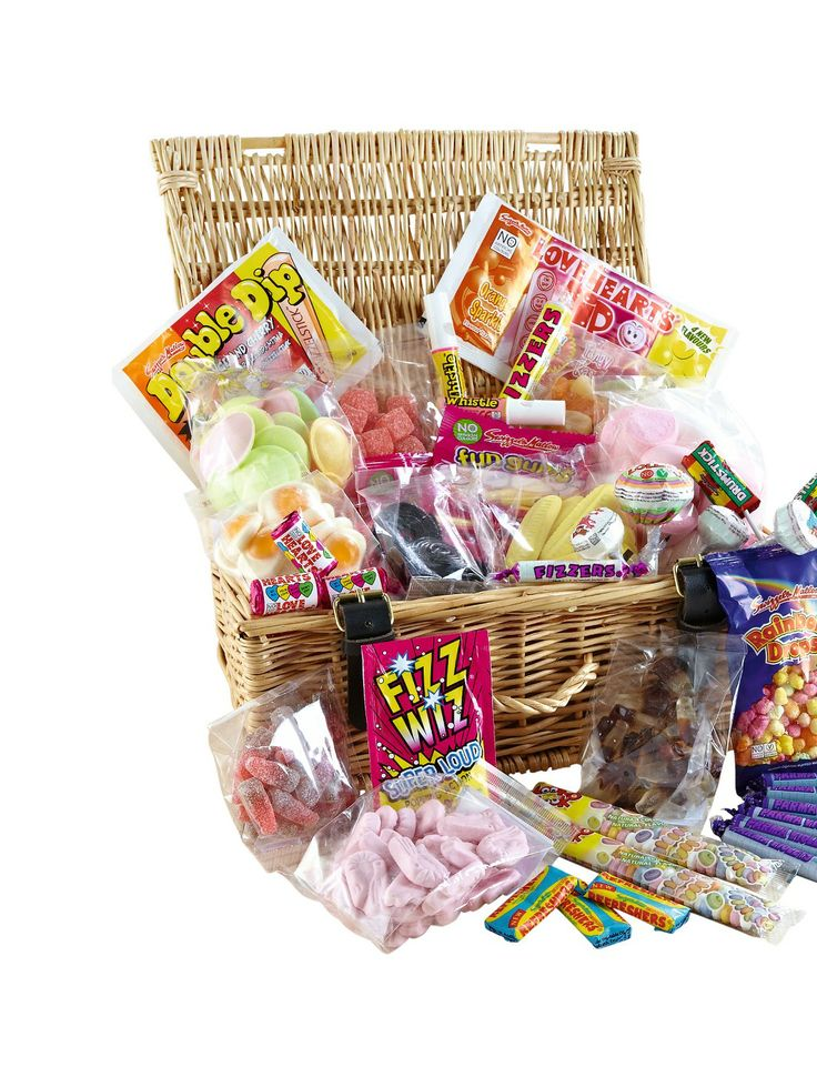 Personalised Retro Sweet Hamper | very.co.uk