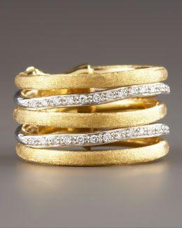 Marco Bicego- Jaipur Stacked Diamond Ring