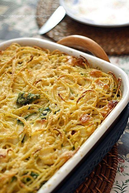pasta e broccoli al forno