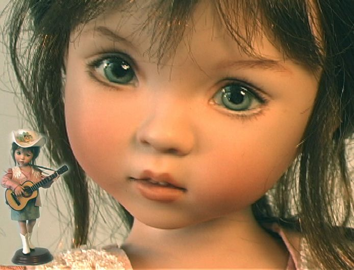 Little Bit Country is a porcelain studio doll that was produced in   the studios of a team of members of the Doll Dreamers Guild