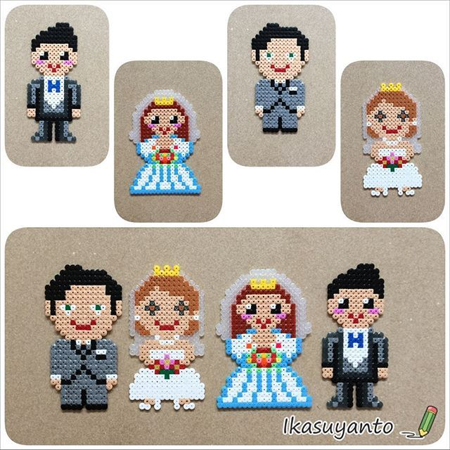 Wedding couples perler beads by ikasuyanto