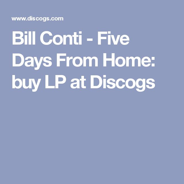 Bill Conti - Five Days From Home: buy LP at Discogs