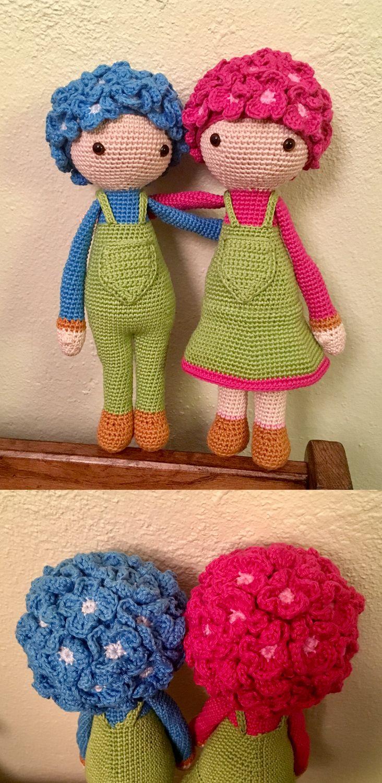 Hydrangea Hank and Henrietta (modification with Violet Vicky pattern) made by Rachael W - crochet pattern by Zabbez