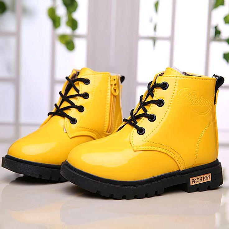 2017 New Winter Children Shoes PU Leather Waterproof Martin Boots Kids Snow Boots Brand Girls Boys Rubber Boots Fashion Sneakers #Affiliate
