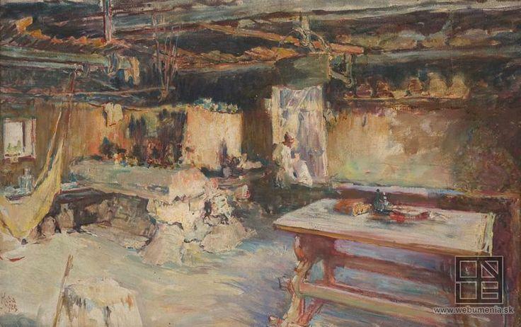 Ludvík Kuba - Black room in Čičmany / Čierna izba v Čičmanoch (1929)