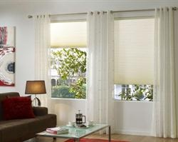 Honeycomb blinds for the kitchen window
