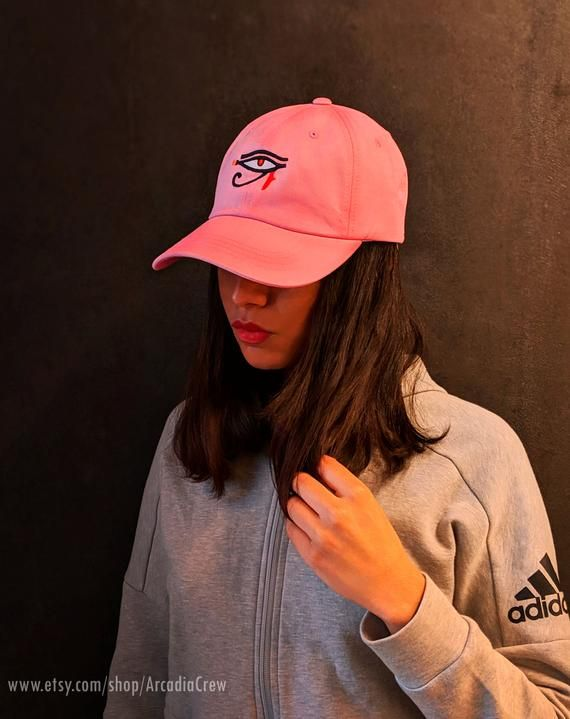 Embroidered Dad Hat Pink Baseball Cap Evil Eye Trucker Hat Christmas Gifts Best Friend Gift Gi Baseball Outfit Pink Baseball Cap Baseball Cap Outfit